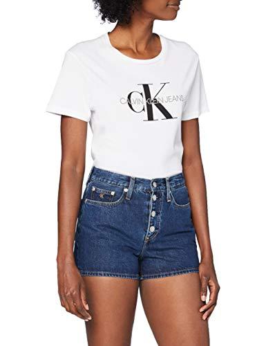 Calvin Klein Jeans Damen High Rise Short, Blau (DA081 Dark Blue Stone Shank ICN 1BJ), 26W