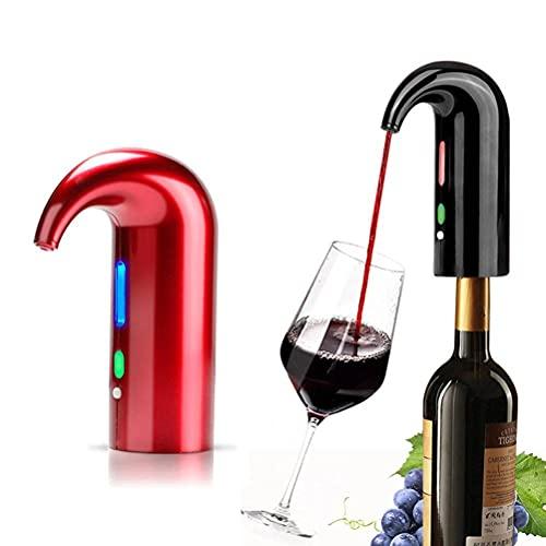 WHkeji Decantador eléctrico portátil aireador de vino eléctrico para vino automático Decantador electrónico inteligente con USB recargable para viajes, hogar y bar