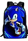 Sonic Mochila Niños Bookbag Sonic Hedgehog Patrón 3D Impresión Dibujos Animados Bolsas De La Escuela Niños Cool Niños Mochila Bolsa De La Escuela