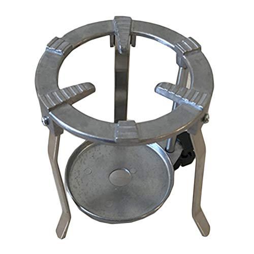 WJH Aluminiumlegierung Runde Stativ für Bunsenbrenner Laborbunsenstativ Mini Lab Unterstützung Ständer Clamp-Flasche Alkohol Flasche Lab Bracket
