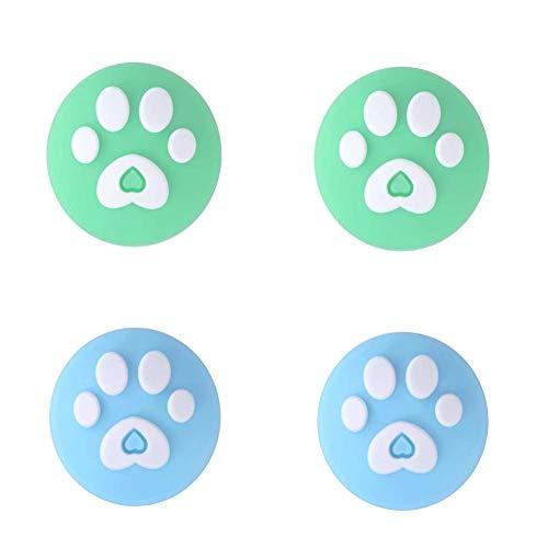 Lot de 4 poignées de pouce en silicone pour manette de joystick Caps Lite Cover analogique, pour Nintendo Switch Joy-Con, accessoires de jeu et décorations parfaits, bleu, B