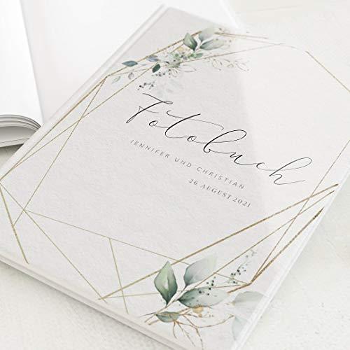 sendmoments Fotoalbum zum Selbstgestalten, Hochzeit, Hochzeitsbouquet, personalisiert mit eigenem Text, Hochformat, 32 leere weiße Seiten oder mehr