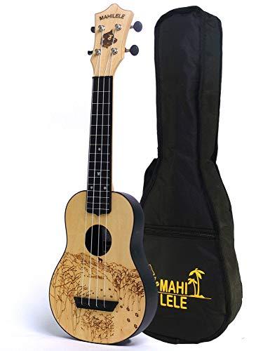 Mahilele 3.0 ukulele soprano White Winter con custodia