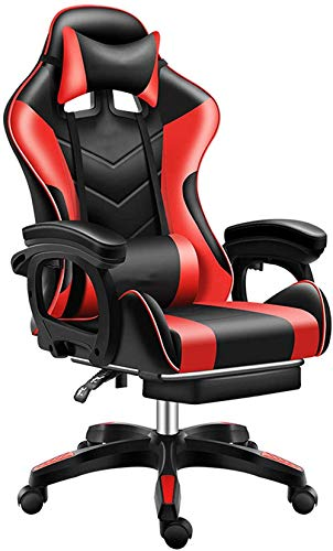 Gaming Chair Ergonomic Computer Chair with Footrest Racing Home Office Chair High Back PU Leather Reclining Chair with Headrest and Lumbar Support