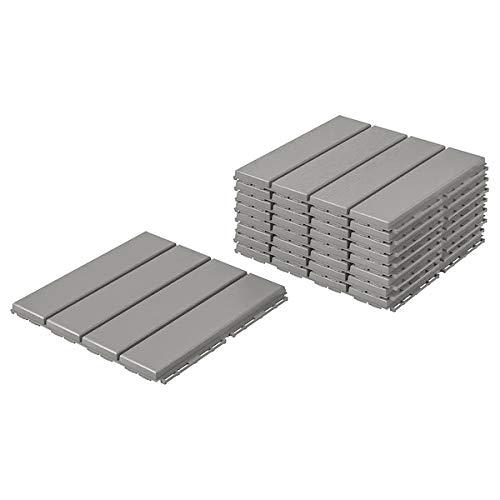 Runnen IKEA Bodenplatten 9 Stück Terrassenfliesen je 30x30x2cm - 0,81 m² pro Paket - Klickfliesen in hellgrau