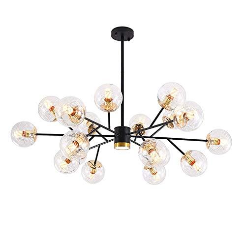 NZDY Lámpara Sputnik de 15 Luces, Accesorio de Iluminación Colgante Moderno, Lámpara de Techo Industrial de Mediados de Siglo, para Cocina, Comedor, Sala de Estar,Dorado,18 Luces