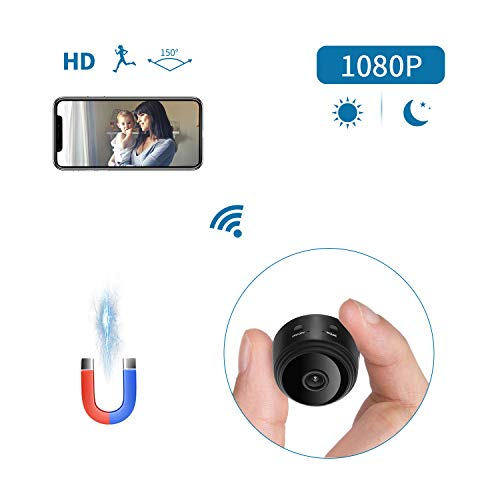 Mini Spy Camera, Joytrip 1080P HD Wireless Hidden Camera Portable WiFi Security Monitor Cameras Small Nanny Cam with Night Vision/Motion Detection/iOS/Android APP for Home and Office