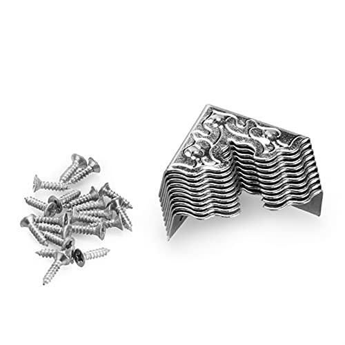 RuiPingRuiLaias Esquina Decorativa 20 unids 25 mm Muebles Antiguos Crafts Metal Caja de joyería Caja de la Esquina Caja de Madera Protector de Esquina Cornería Decorativa (Color : A)