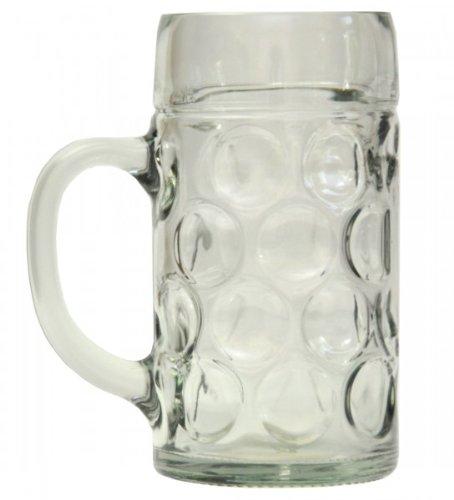 Stölzle-Oberglas 4533808045 Isar Maßkrug, Bierseidel, Bierkrug, Bierglas, 1.265 Liter, mit Füllstrich bei 1l, Glas, transparent, 6 Stück