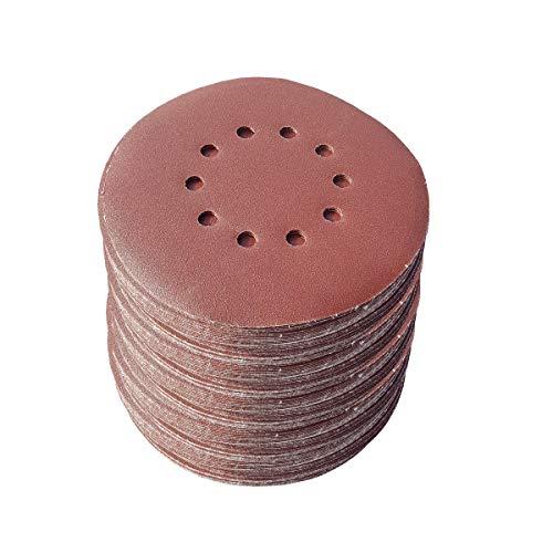 25 unidades de discos abrasivos de 225 mm de diámetro, con 10 agujeros, grano P40, lijadora excéntrica, lijadora de cuello largo de Bohrfux