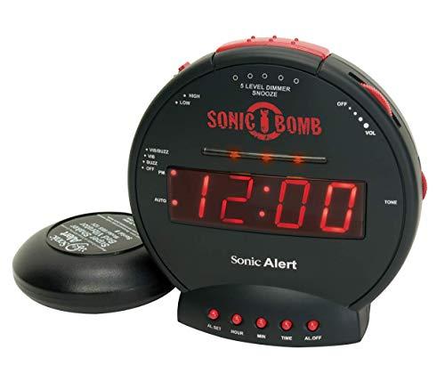 Geemarc Sonic Bomb Wecker mit Vibration (85 dB)