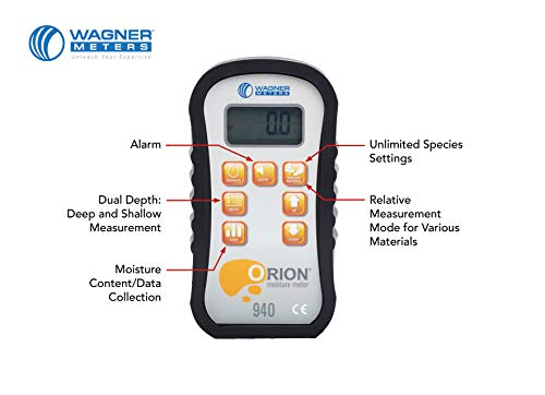 Wagner Meters Orion 940 Data Collection Pinless Wood...