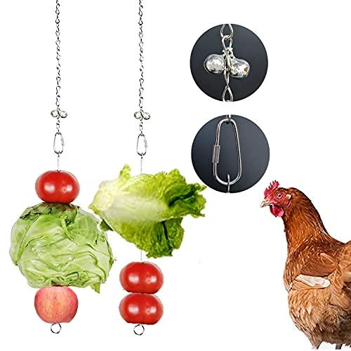 Chicken Veggies Skewer Vegetable Coop Hanging Chicken Feeder Toy for Hen, Rooster, Duck, Poultry