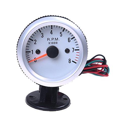 SODIAL(R)Compte-tours tachymetre avec la Coupe de support pour voiture Auto 2 \