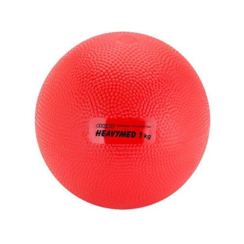 GYMNIC 'Heavymed–Balón Medicinal Bola, Unisex, Heavymed, Rojo, 1 kg