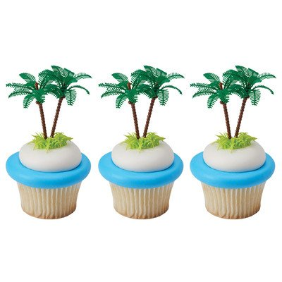 Bag of 12 ~ Palm Tree Picks ~ Cake / Cupcake Topper