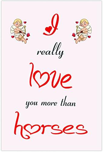 I Love Paarden Themed Card - Valentijnsdag/Verjaardag/Verjaardagskaart voor Hem of haar