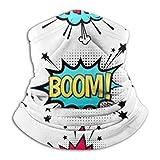 Merle House Bandana Mascarilla Neck Gaiter Tube, Ear Warmer Headband & Face Mask. Comic Speech Bubble Set Text Wow Ultimate Thermal Retention