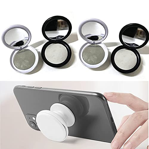4 Pcs Creative Gasbag Cosmetic Phone Holder with Mirror Multifunctional Holder 360°, Mobile Phone Air Bag Holder, V-Shaped Mobile Holder, for Any Mobile Phone