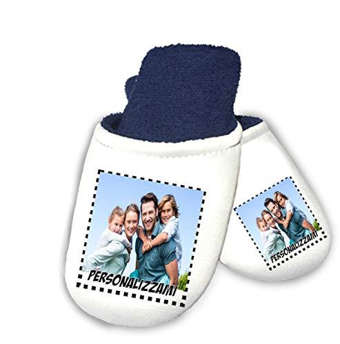 bubbleshirt Pantofole Personalizzate con Foto - Personalizza Le tue Pantofole - Idea Regalo