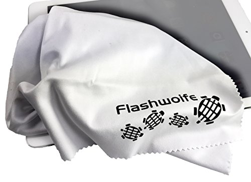 Flashwoife Turtle-RT40W extra feines Micro-faser (Nano-faser) Reinigungstuch 40x40 cm, weiß