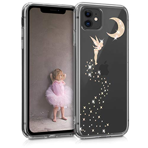 kwmobile Hülle kompatibel mit Apple iPhone 11 - Handyhülle - Handy Hülle Fee Glitzer Rosegold Transparent
