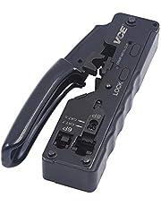 VCE GJ669BK Professionellt nätverkskrimpverktyg för RJ45 RJ11 Cat7 Cat6a Cat6 Cat5 Ethernet-kabelkontakter
