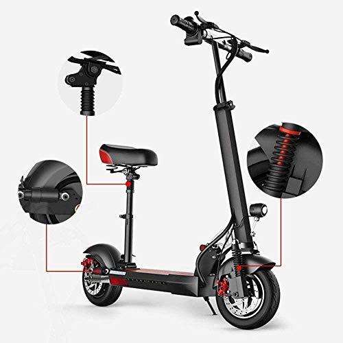 Liui Elektrische step met zitting, inklapbaar, zeer licht, 36 V/350 W, motor 30 km/h, hoge snelheid, USB, opladen voor voetbal, scooter, elektrische scooter, volwassenen en jongeren 40~50km