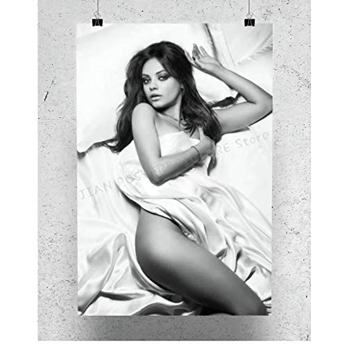 Posters Mila Kunis Star Sexy Beautiful Model Poster Decor Art Painting Poster Printed Canvas for Wall Decoration Living Bedroom Room office-20x28Inch No Frame