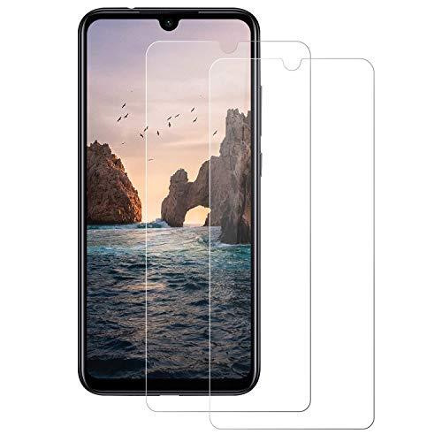 POOPHUNS Xiaomi Redmi Note 7/ Note 7 Pro Verre trempé Protecteur d'écran, 2 pièces [3D Couverture Complète] [Dureté 9H] [Anti Rayures][sans Bulles] Film Protection pour Note 7/ Note 7 Pro