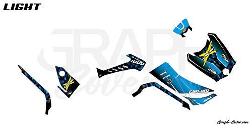Kit Deco Quad Can-AM Outlander G2 2012 bis 2020-650 – 800-1000 Masai blau Light