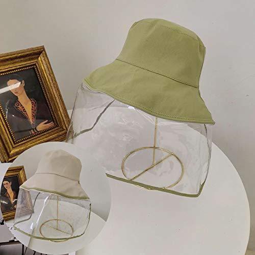 GXDFBDM Chapeau enfants section mince anti-anti-gouttelettes de garçons de chapeau de coton chapeau de salive et filles protection bébé chapeau pots (Color : Fruit green, Size : 43-50cm)