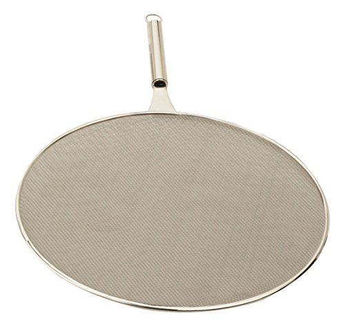 RSVP International Endurance (SPLAT-15) Splatter Screen, One Size - Fine Mesh Stainless Steel, 15' in Diameter with 6.25' Handle |Keeps its Shape & Construction Over Time | Dishwasher Safe