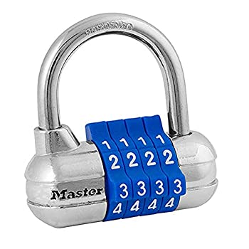 Master Lock 1523D Set Your Own Combination Padlock 1 Pack Color may vary  Blue