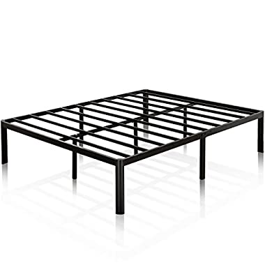 Zinus 16 Inch Metal Platform Bed Frame with Steel Slat Support, Mattress Foundation, King