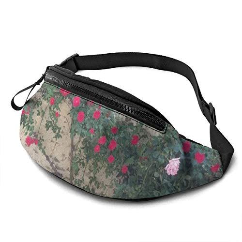 AOOEDM Wild Spring Flowers Running Belt Fanny Pack Fashion Waist Pouch Bag for Men Women Sports Hiking