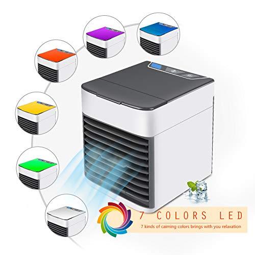 DANTB Airconditioning, draagbare mini-airconditioning, persoonlijke mini-luchtkoeler, 3-in-1, draagbare USB-mini-airconditioning, luchtbevochtiger en luchtkoeler, voor kamer, kantoor, outdoor