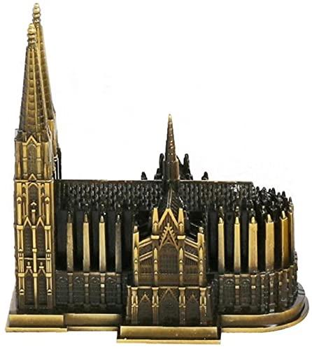 Modelo de la Catedral de Colonia Aleación Alemania Modelo de Arquitectura emblemática Catedral de Colonia Adorno Artesanal