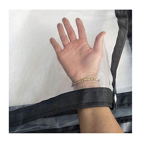 ZYLE Lona Transparente Cubierta Impermeable Impermeables Plástico Tela Película Antienvejecimiento Aislamiento Lona PE, Se Puede Personalizar (Size : 2X2m)