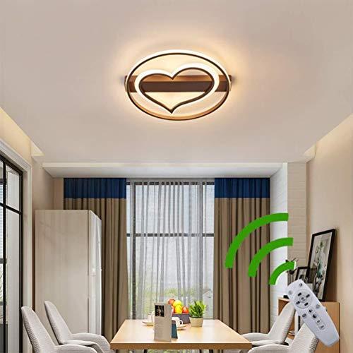 LED moderne plafondlamp dimbaar woonkamer met afstandsbediening slaapkamer, ronde ring hart design acryl lampenkap metaal schijnwerper verlichting voor eetkamer badkamer keuken