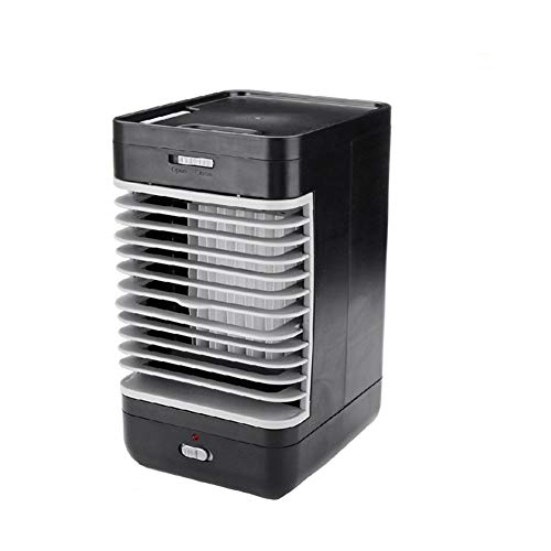 Ai-lir Portable air conditioner is easy to carry Mini Portable Air Conditioner Humidifier Purifier Desktop Chilling Fan Air Cooler Black Fan for Camping Outside Activities Small and durable
