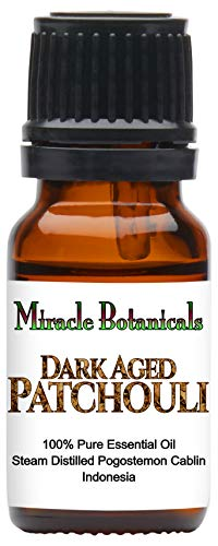 Miracle Botanicals Premium Dark Aged Patchouli Essential Oil - 100% Pure Pogostemon Cablin - Therapeutic Grade 10ml