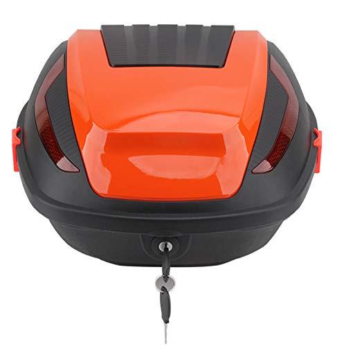 Baúl Universal De Moto, Capacidad De 30 Litros | Topcase Universal, Para Scooter, Motocicletas, Ciclomotores Y Quads | Cerradura Con Dos Llave