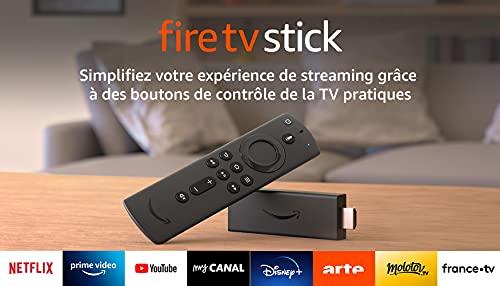 Nouveau Fire TV Stick avec télécommande vocale Alexa (avec boutons de contrôle de la TV), Son Dolby Atmos, Modèle 2020