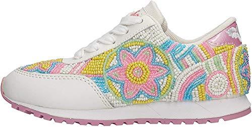 Lelli Kelly Bianco Fuxia SNEAKERISSIMA Scarpa Bambino Sneakers 4810