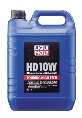 LIQUI MOLY 1249 Touring High Tech Motoröl HD 10W, 5 L