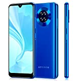 Apobob Mate30 Unlocked Smartphones, 6.26 inch HD Smartphone, Android 9.0(AT&T/T-Mobile), Quad Rear Camera Phones, Dual SIM GSM Unlocked Cell Phones, 16GB+2GB RAM Mobile Phone, 2650 mAh Battery(Blue)