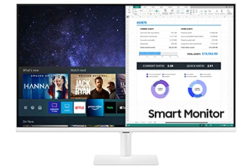 Samsung 27-Inch Class Monitor M5 Series - FHD Smart Monitor and Streaming TV (LS27AM501NNXZA, 2021 Model)