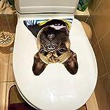 SHMAZ Inodoro Calcomanías De Baño Mascota Perro Bulldog Etiqueta De La Pared Cubierta De Asiento De Inodoro Decoración Accesorios De Inodoro