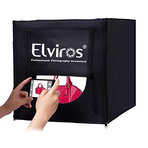 Elviros Profi LED Fotostudio & Faltbarer Lichtzelte Fotozelt 40x40x40cm